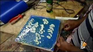 طريقة الحفر على الرخام وعمل كتابات محفورة ( دعاية واعلان)