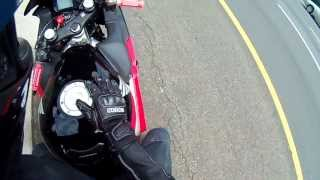 getlinkyoutube.com-75 MPH Motorcycle Crash Helmet Cam