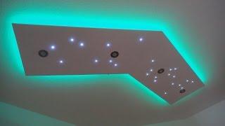 Deckenleuchte selber bauen - direktes und indirektes LED Licht