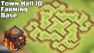 getlinkyoutube.com-Clash of clans - Best Town Hall 10 Farming Base [Th10 The Slit] Update 275 Walls