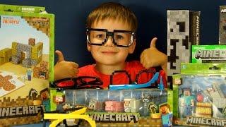 getlinkyoutube.com-Открываем Посылку с Игрушками Майнкрафт. Фигурки Minecraft. VLOG Kokatube LIVE