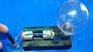 Free Energy Device Light Bulbs 220V Using Piezo Igniter with 2 Motor 2018 project exhibition width=