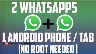 getlinkyoutube.com-How To Use 2 WhatsApp In One Phone ! WithOut Root 2016