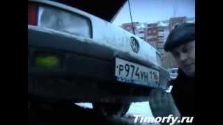 getlinkyoutube.com-Замена передней опоры (подушки) двигателя AAZ 1.9TD на VW Passat B3