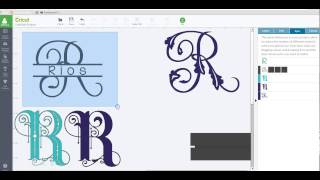 getlinkyoutube.com-Create your own split monogram with slice and weld - Cricut Design Space