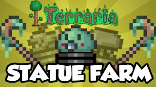 Terraria Statue Farm Tutorial - How To Farm The Slime Staff / Baby Slime - Simple Statue Farm