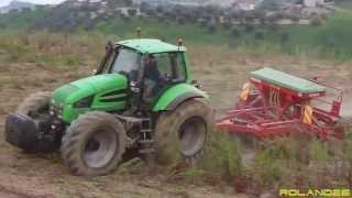 Deutz Fahr Agrotron 260 & seminatrice Gaspardo DP300  -Semina su Sodo-