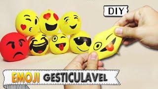DIY EMOJI GESTICULÁVEL - BOLA ANTI STRESS | Aprenda com Edu