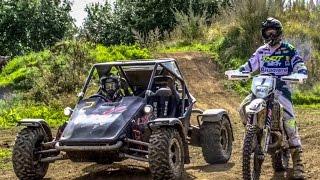 getlinkyoutube.com-Graham Jarvis vs The Stig || Rage Buggy fitted with || Yamaha R1 Engine