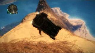 getlinkyoutube.com-Just Cause 2 CAR JUMP (PS3)