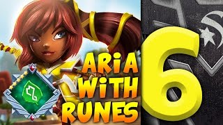 getlinkyoutube.com-The INSANE Power Of Aria 6* With Runes   Dungeon Boss w/ STARSKREAM