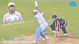 getlinkyoutube.com-DHONI IN Ball OUT !! MS DHONI POWER !! Hit 1st ball for Six