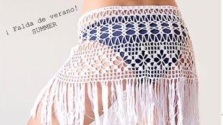 getlinkyoutube.com-Falda de Verano a Ganchillo I SKIRT SUMMER I PARTE 1/2 I cucaditasdesaluta