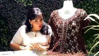 TEJE BLUSA DE ESPUMA DE MAR Y PETATIYO - Crochet Fácil y Rápido