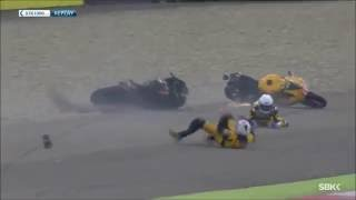 getlinkyoutube.com-Big World Superbike crashes