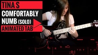 getlinkyoutube.com-PINK FLOYD - COMFORTABLY NUMB - SOLO COVER BY TINA S - Animated Tab