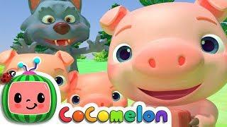 Three Little Pigs | Nursery Rhymes & Kids Songs - ABCkidTV
