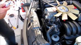 Download video mercedes w202 how to change your fan belt for Mercedes benz serpentine belt replacement cost