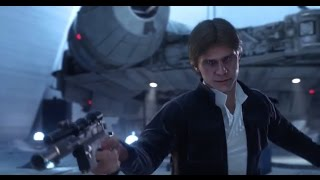 getlinkyoutube.com-Star Wars Battlefront Han Solo vs Darth Vader Leia Emperor Trailer