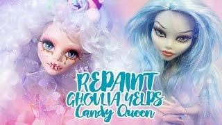getlinkyoutube.com-☽ Moonlight Jewel ☾ Repaint Ghoulia CANDY QUEEN Custom OOAK