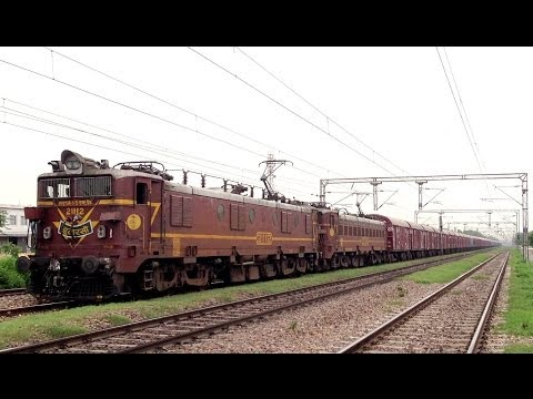 INDIAN RAILWAYS Dual Itarsi WAG5 21112 & 23780 freighter meet Delhi bound EMU