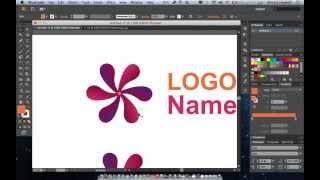 طريقة رسم شعار بتكرار عنصر واحد عن طريق برنامج الاليستريتور