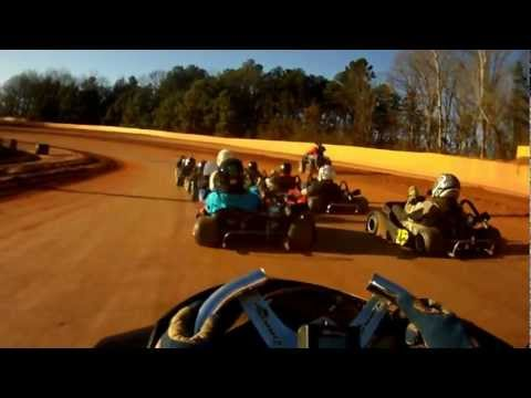 Brenton Ferre 322 go Kart racing at Cherokee speedway dirt track Race part 1 20Jan2013