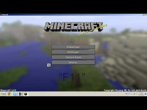 How to play minecraft in full screen