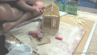 getlinkyoutube.com-Building Popsicle Cabin Time Lapse
