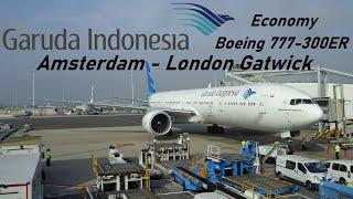getlinkyoutube.com-Garuda Indonesia flight GA88 - Amsterdam to London Gatwick - Boeing 777-300ER *HD*