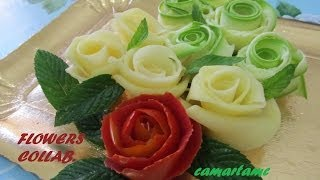 getlinkyoutube.com-TUTORIAL: Come Realizzare le ROSE con le Verdure FLOWERS | HOW TO MAKE VEGETABLE ROSES