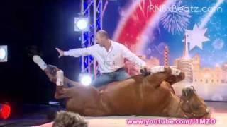 getlinkyoutube.com-Australia's Got Talent 2011 - Double Dan Horsemanship