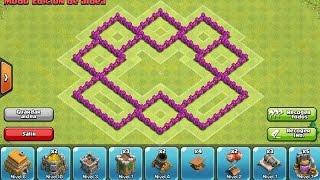 Diseño de aldea defensiva ayuntamiento nivel 6