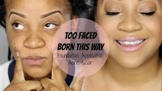 getlinkyoutube.com-Cover Acne Scars with Too Faced Born This Way !!!!!!!!!!!