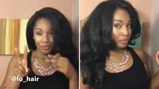 getlinkyoutube.com-Knotless Crochet Braid Install using Cuban Twist Braidable weaving and Double strand twist