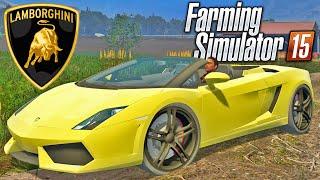 getlinkyoutube.com-Farming Simulator 2015 - Carro Lamborghini