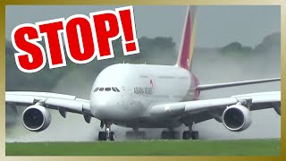 getlinkyoutube.com-Amazing Rejected Takeoff of ASIANA AIRLINES A380
