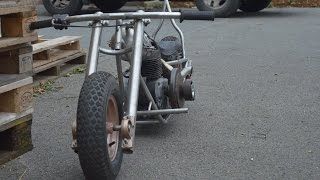 getlinkyoutube.com-homemade mini bike chopper bobber part 5 sissy bar building