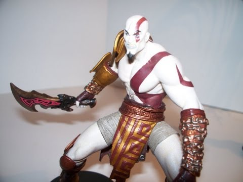 DC UNLIMITED KRATOS GOD OF WAR 3 SERIES 1 PS3 ACTION FIGURE TOY REVIEW