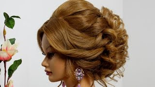 getlinkyoutube.com-Wedding prom updo. Hairstyle for long  medium hair