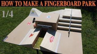 getlinkyoutube.com-HOW TO BUILD A FINGERBOARD PARK (TUTORIAL) 1/4