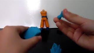 getlinkyoutube.com-Como hacer a Goku Ssj Dios Azul(ssj Dios ssj) de plastilina