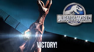 getlinkyoutube.com-Spinosaurus Week Battle Perfect Win - Stage 26 | Jurassic World The Game