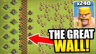"getlinkyoutube.com-""THE GREAT WALL OF CLASH OF CLANS!"" - INSANE TROLL BASE GAME PLAY!"