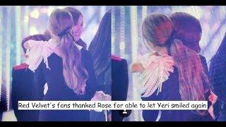 Blackpink's Rosé comforts Red Velvet's Yeri in SBS Gayo Daejun