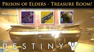 getlinkyoutube.com-Destiny - Prison of Elders Treasure Room! Guaranteed Exotics!