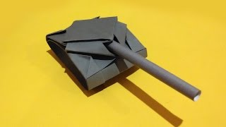 getlinkyoutube.com-Paper tank. Origami tank (easy 2 minutes)