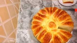 خبز البريوش /او بريوش الوردة/ سهل ورائع واقتصادي %