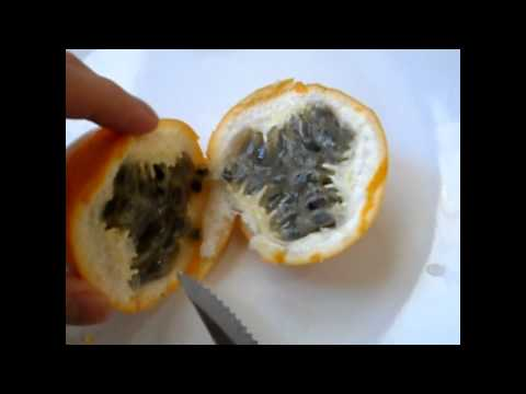 How to prepare and eat passion fruit and a review tutorial
