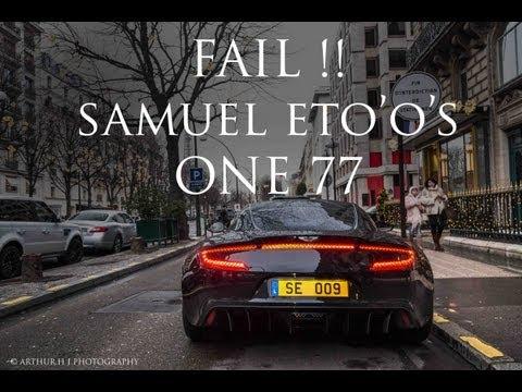 【サッカー】サミュエル・エトォのアストンマーティンONE-77がまたぶっ壊れるwwwwエンジン音がヤバイwwwwww
